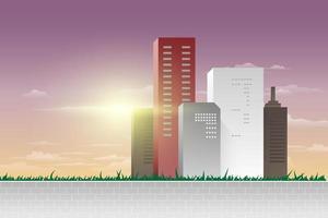 vista panoramica della città moderna vettore