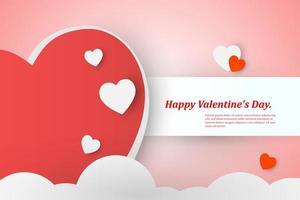 bellissimo sfondo di San Valentino con cuori rossi e bianchi