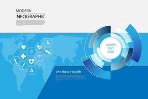 vettore astratto sanità scienza medica icona concetto sfondo