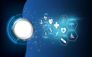 sfondo astratto icone mediche