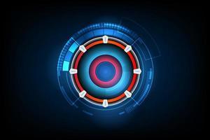 fondo futuristico astratto di tecnologia del circuito elettronico, illustrazione di vettore