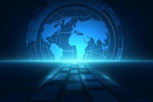 concetto di tecnologia globale digitale, sfondo astratto