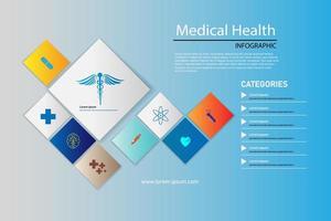 icone mediche su sfondo tech