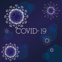 sfondo di banner viola scientifico di coronavirus