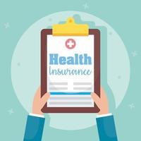 composizione del concetto di servizio di assicurazione sanitaria vettore