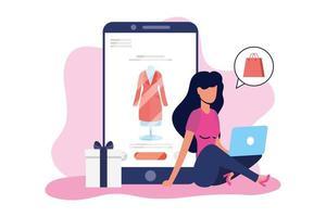 banner per acquisti online e e-commerce vettore