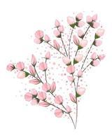 boccioli rosa bouquet di fiori pittura design vettore