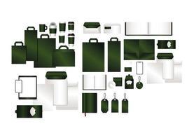 mockup con design del marchio verde