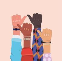 come segno con le mani di diversi tipi di pelli