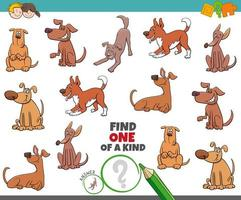 gioco unico nel suo genere per bambini con cani vettore