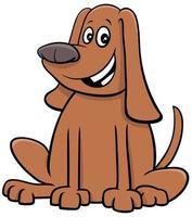 cartone animato cane o cucciolo personaggio animale comico vettore