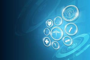 fondo di concetto di innovazione di tecnologia medica