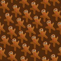 Reticolo senza giunte dell'uomo di pan di zenzero di festa di Natale
