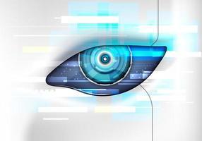 occhio del robot. interfaccia hud futuristica