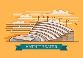 Amphitheatre rovina un'illustrazione antica di vettore della città di storia di architettura in sguardi 3D