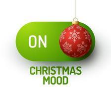 umore natalizio sull'interruttore con ornamento realistico