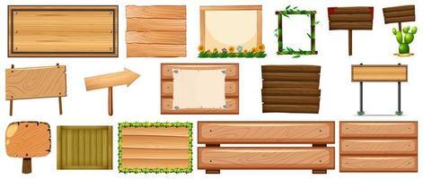 set di vari tipi di banner segno