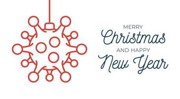 design palla di Natale rosso coronavirus