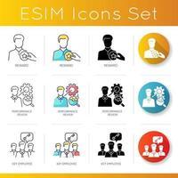 set di icone di occupazione professionale. vettore