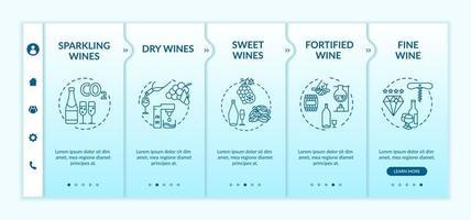 modello di onboarding dei tipi di vino.
