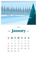 Paesaggio di gennaio vettore