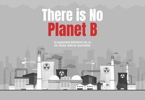 non esiste un banner pianeta b vettore