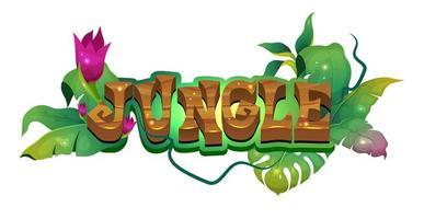 banner foresta pluviale tropicale vettore
