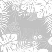 modello tropicale senza cuciture estivo con foglie di palma monstera vettore