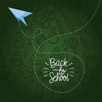 aeroplano di carta di ritorno a scuola