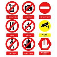 Vettore del segnale di avvertimento