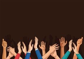 I pollici che applaudono i pollici aumentano l'illustrazione di applauso vettore
