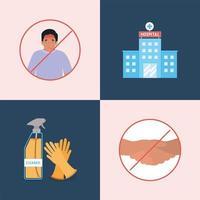 Progettazione dei tipi di prevenzione dei virus ncov 2019 vettore