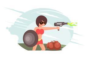 vettore di superwoman
