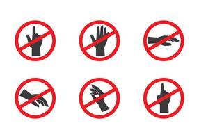 Non toccare l'icona