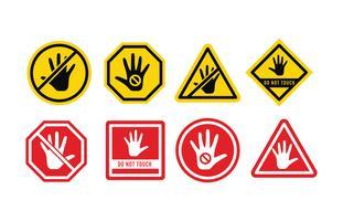 Non tocchi il pacchetto di vettore del segno