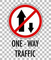 segnale stradale rosso su sfondo trasparente vettore