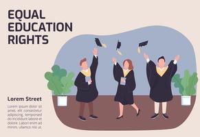 banner di pari diritti all'istruzione