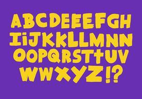 Vettore di alfabeto di colpo di pennello