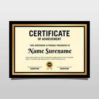 certificato creativo di modello di premio di apprezzamento con motivo moderno e di lusso. illustrazione vettoriale
