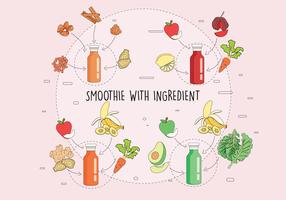 smoothie and ingrdients vol 3 vettore