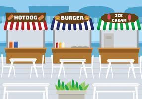 Disegno vettoriale di food court