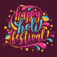 holi festival di colori vettore