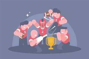 Illustrazione del partito di calcio vettore