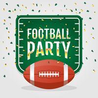 Sfondo di invito a una festa di calcio