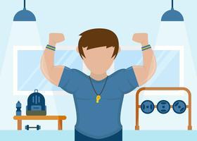 Vettori iconici eleganti del addestratore di forma fisica