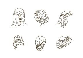 Vettori dell'accumulazione di stile dei capelli