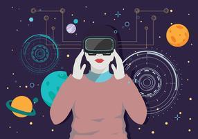 Realtà virtuale esperienza Vol 3 Vector