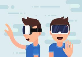 Esperienza di realtà virtuale vettore