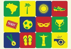 Icona di calcio spiaggia Brasile