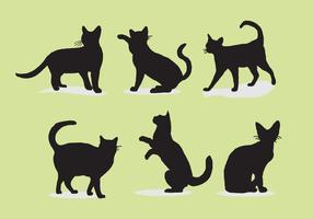 illustrazione vettoriale di gatto siluetas